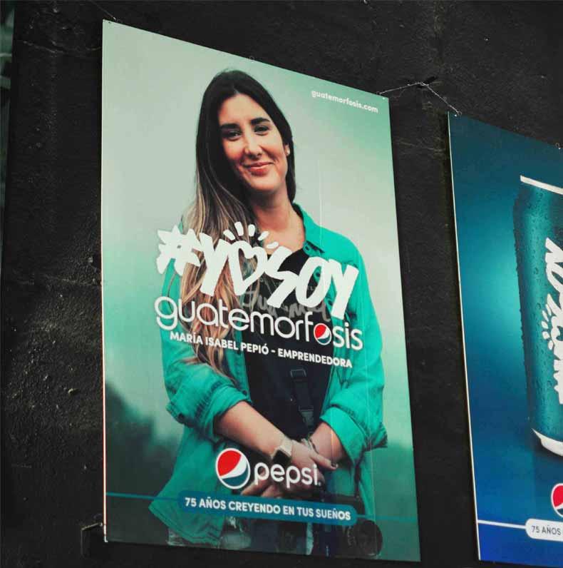 Imágenes promocionales de la campaña #YoSoyGuatemorfosis / Foto: Revista Win