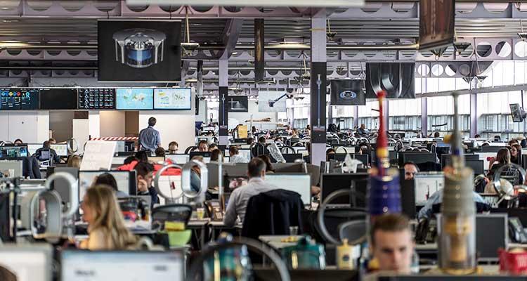 Oficinas de Dyson en Gran Bretraña / Foto: The New York Times.